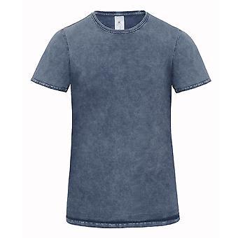 B & C Denim Mens redigering kort erme t-skjorte