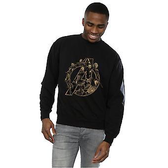 De mannen in de Marvel Avengers Infinity War Marvel Logo Sweatshirt