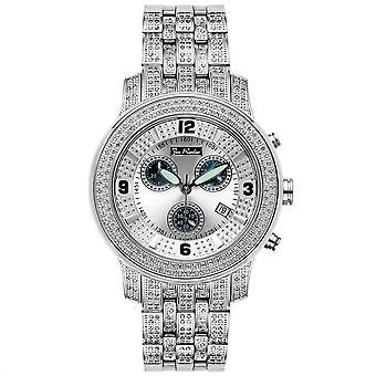 Joe Rodeo diamond men's watch - 2000 silver 3.5 ctw