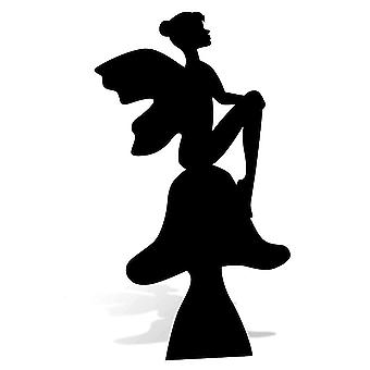 Fairy on a Toadstool Silhouette Cardboard Cutout / Standee / Standup