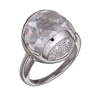 Orphelia Silver 925 Ring Hill gesneden duidelijk zirkonium ZR-3657
