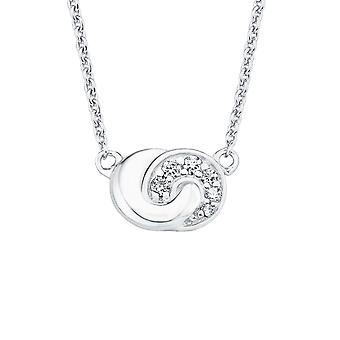 nó de tão puro 2017186 colar prata cubic zirconia senhoras joia de s.Oliver