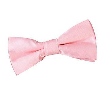 男の子の赤ちゃんピンク プレーン サテン結んで蝶ネクタイ