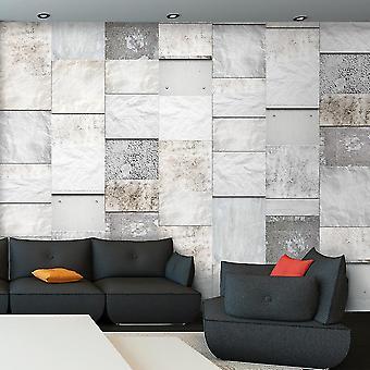 Fotobehang - Stone triptych