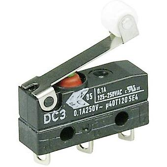 ZF Microswitch DC3C-A1RB 250 V AC 0.1 A 1 x On/(On) IP67 momentary 1 pc(s)