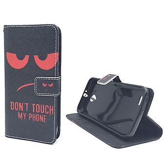 Handyhülle Tasche für Handy Vodafone Smart Prime 6 Dont Touch My Phone Rot