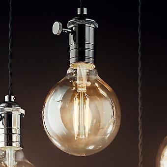 Ideal Lux Doc bytte hänge ljus med svart Flex och bly färgad metall