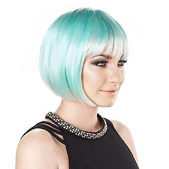Party Wig - Turquoise - Perruque Bob Courte - Couleurs Pastel