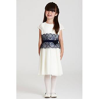 ほとんどの MisDress の白と紺のレースのドレス