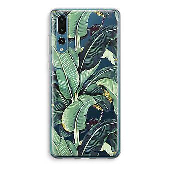 Huawei P20 Pro Transparent Case (Soft) - Banana leaves