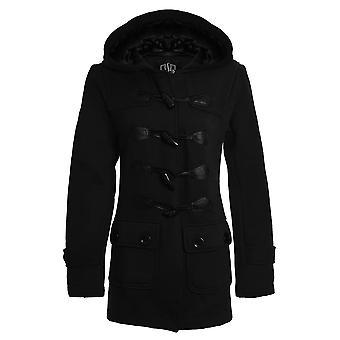 Duffle Trench Coat capuche poche Mesdames Veste nouvelles femmes
