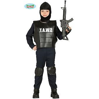 Polisen SWAT squad barn kostym polis kostym barn kostym