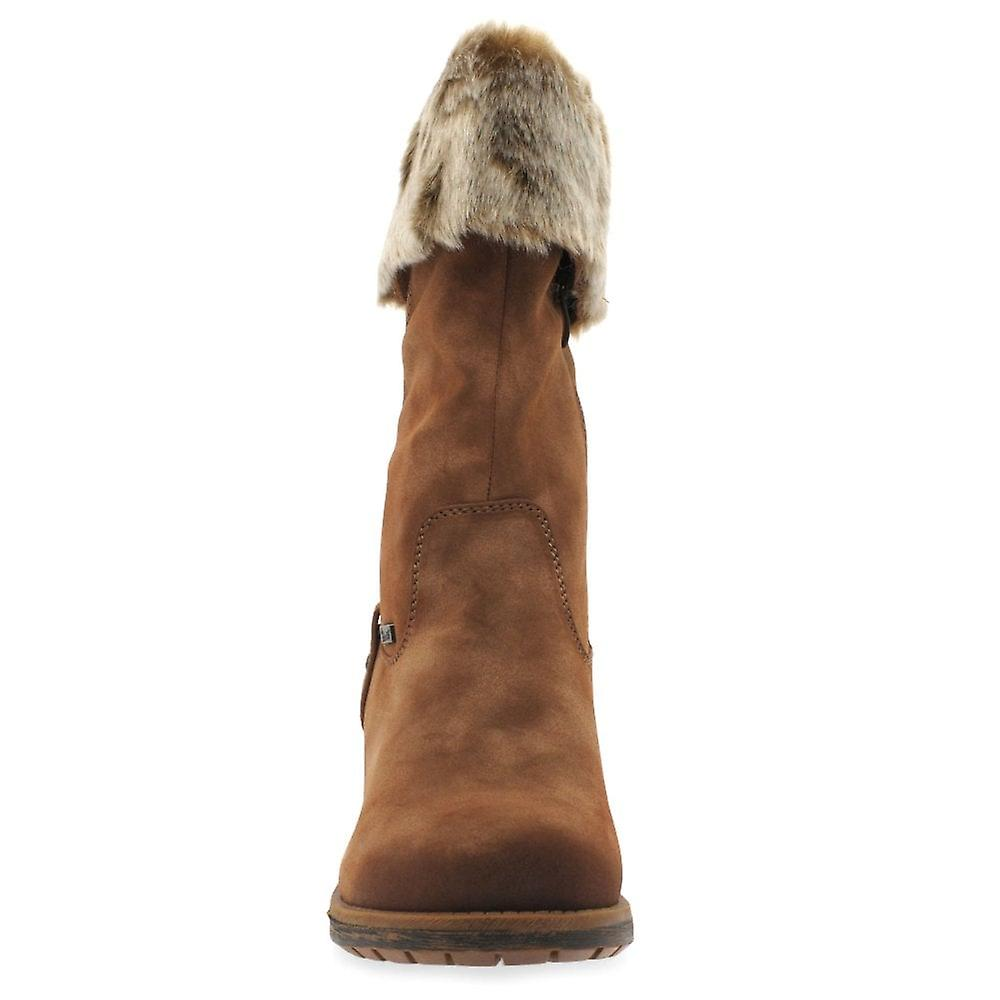 Rieker Newam kvinners Faux pels Trim støvler