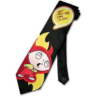 FAMILY GUY SILK Neck Tie Why Don't You Burn in Hell Men's NeckTie
