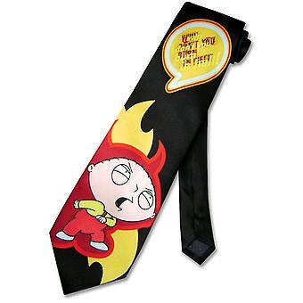 איש משפחה הצוואר משי עניבה מדוע דון ' אתה לשרוף ב גברים הגיהנום עניבה של '
