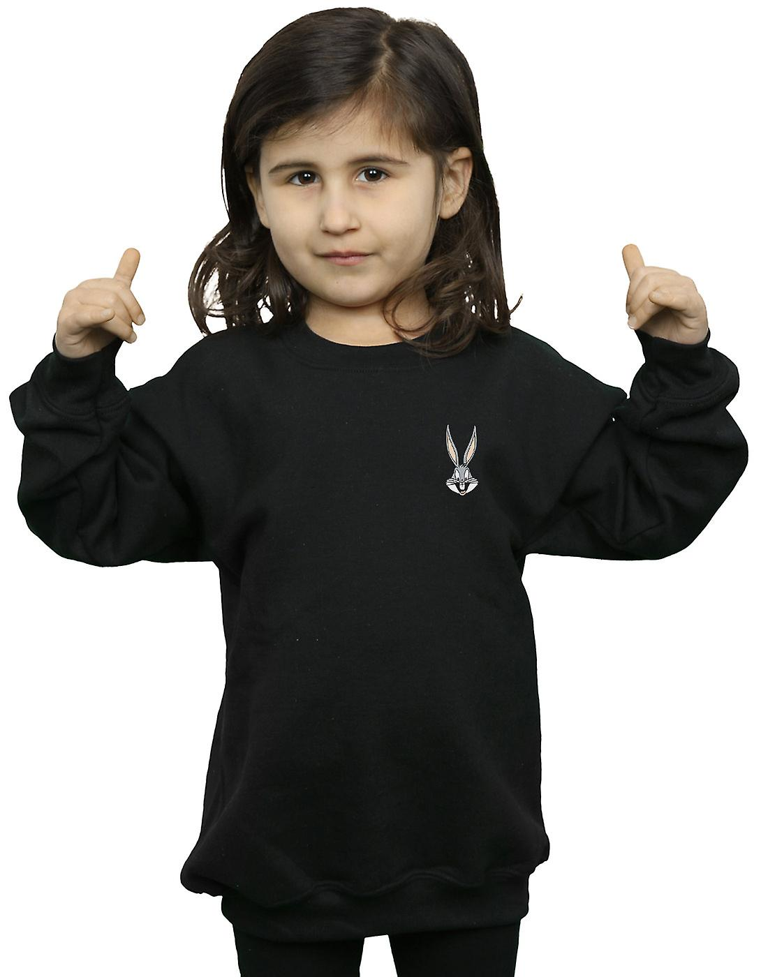 Looney Tunes Girls Bugs Bunny Breast Print Sweatshirt