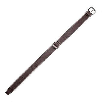 Arppe Giant Brunello Brown Leather Necklace / Grey Chocolate