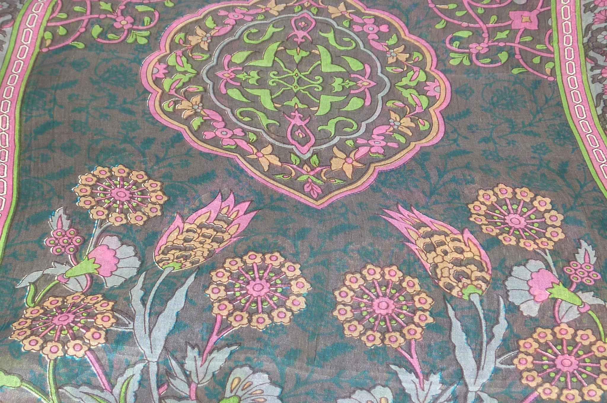 Mulberry Silk Contemporary Long Scarf Mina Chocolate by Pashmina & Silk