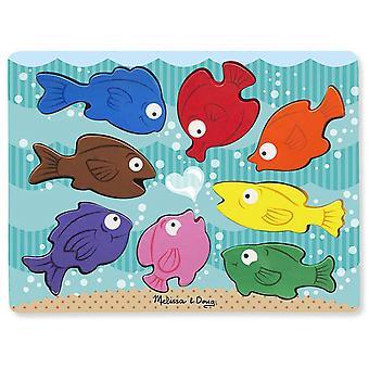 Melissa og Doug Chunky puslespil - farverige fisk