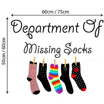 Full Colour Department Of Missing Socks Wall Decal Sticker