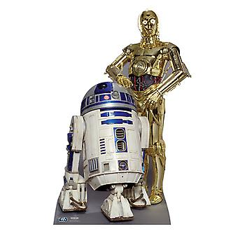 The Droids R2-D2 and C3PO - Star Wars Lifesize Cardboard Cutout / Standee