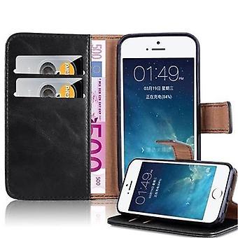 Cadorabo Hülle für Apple iPhone 5 / iPhone 5S / iPhone SE hülle case cover - Handyhülle mit Magnetverschluss, Standfunktion und Kartenfach – Case Cover Schutzhülle Etui Tasche Book Klapp Style