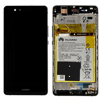 Huawei display LCD unit + frame for P9 Lite Service Pack 02350TMU black