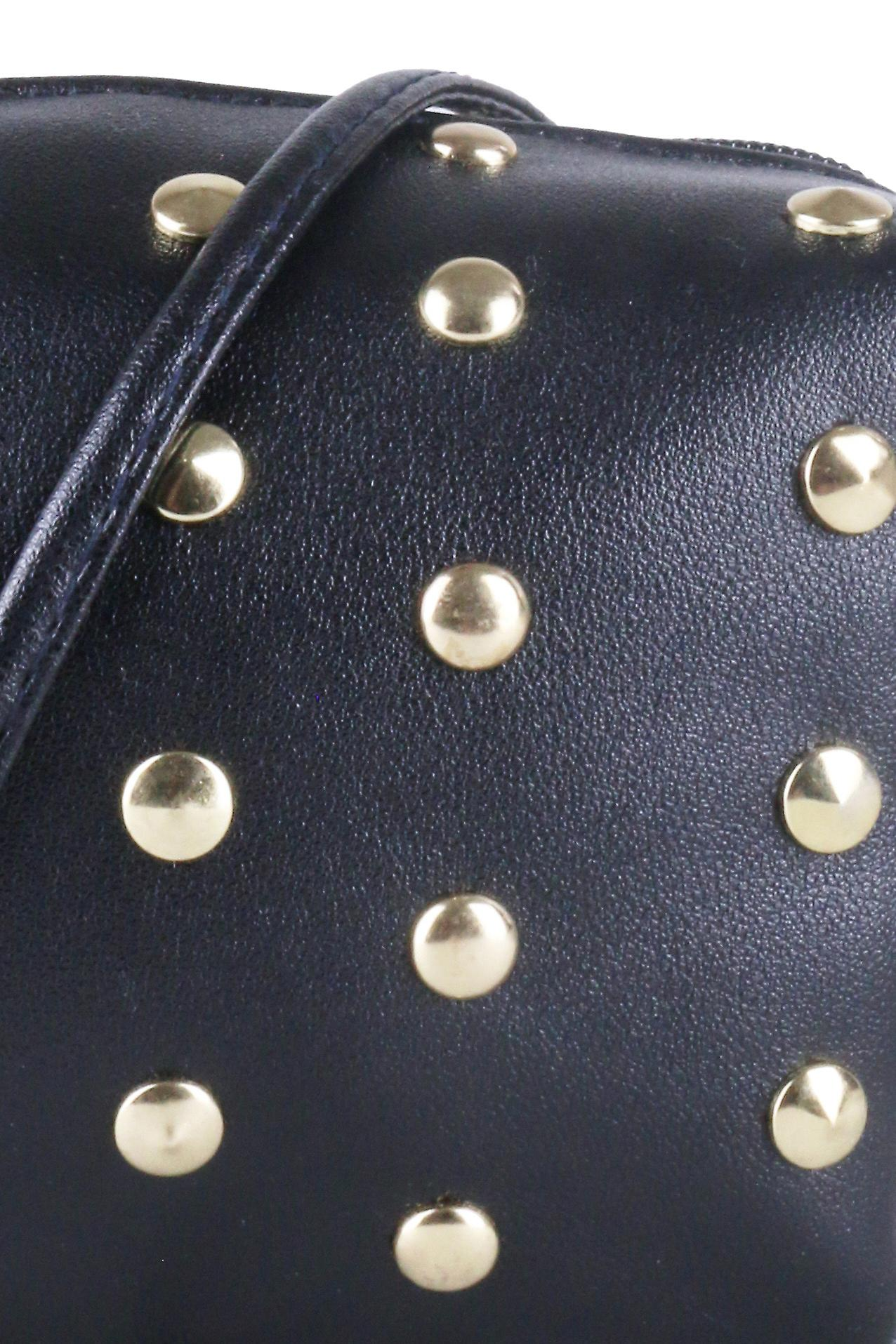 Lovemystyle Box Side Bag With Gold Studs In Black