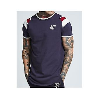 Sik Silk Navy Sprint Gym T-shirt