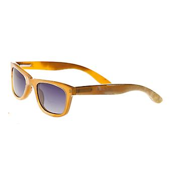 Bertha Zoe Buffalo-Horn Polarized Sunglasses - Vanilla/Black