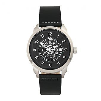 Reign Lafleur Automatic Leather-Band Watch w/Date - Silver/Black