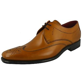 Mens Loake Part Brogue Lace Up Leather Shoes - Stitch