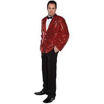 Disco jas rood volwassene