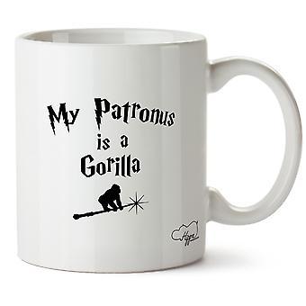Hippowarehouse min Patronus er en Gorilla trykt krus Cup keramiske 10 Unzen