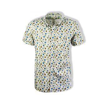 Far Afield Mod Button Down Short-Sleeved Shirt (Navarro Floral)