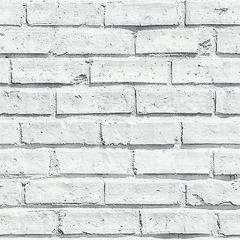 Arthouse witte bakstenen muur fotografische steen Effect natuurlijke functie Wallpaper