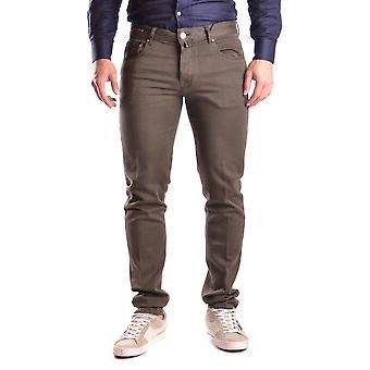Pt05 Ezbc084015 Men's Green Cotton Jeans