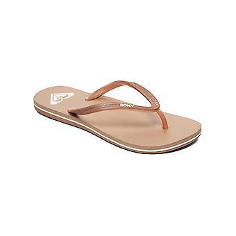Roxy naisten Azul Flip Flops rento sandaalit-pronssi