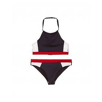 Tommy Hilfiger flagga Logo gröda topp Bikini