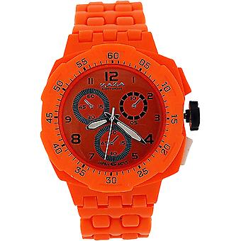 Zaza London Orange Chrono Effect Ladies Gents Plastic  Bracelet Strap WatchPL342