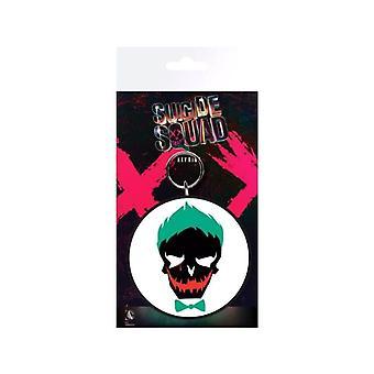 Suicide Squad Joker Skull Rubber Keyring