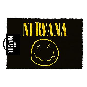 Nirvana Smiley Logo Doormat