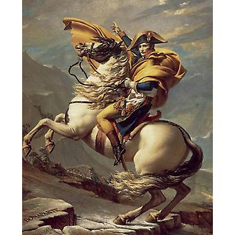 Napoleon Crossing The Alps, Jacques-Louis David, 50x40cm