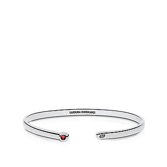 Carolina Hurricanes Engraved Sterling Silver Ruby Cuff Bracelet