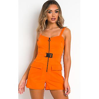 IKRUSH Womens Dionne Zipped Utility Playsuit