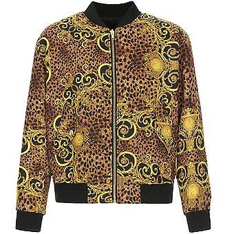 Versace jeans Couture Leopard Print Bomber jaqueta