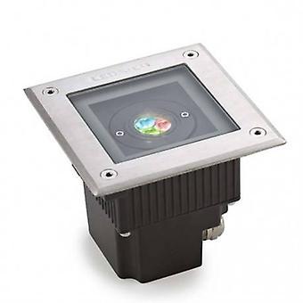 LED vierkant buiten RGB Easy + inbouw licht roestvrijstaal Ip67