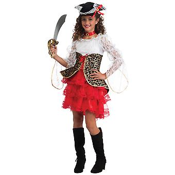 Seven Seas Pirate Buccaneer Caribbean Story Book Week Child Girls Costume