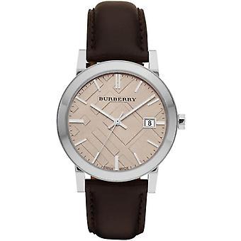 Burberry Bu9011 Gents classique marron bracelet en cuir montre