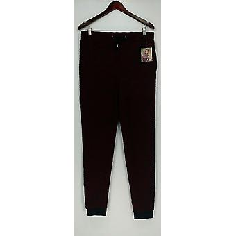 HotTotties Women's French Knit Melange Lounge Slim Pant Red A283204